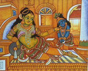 Little Krishna and Yashoda