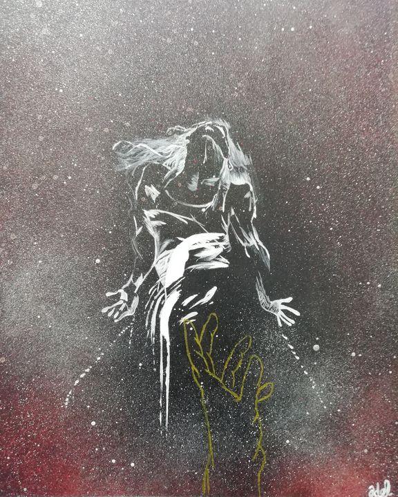 Woman in cosmos - Adel Legraffeur