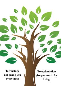 Tree Plantation Awareness Poster