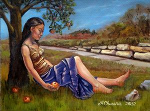 Resting Under Apple Tree