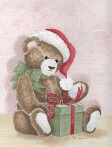 "A ""Beary"" Happy Christmas - Janice Webber Watercolors"