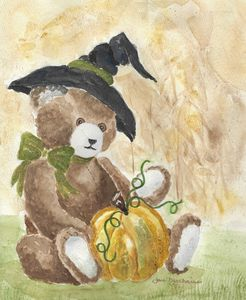 Good Witch Teddy - Janice Webber Watercolors