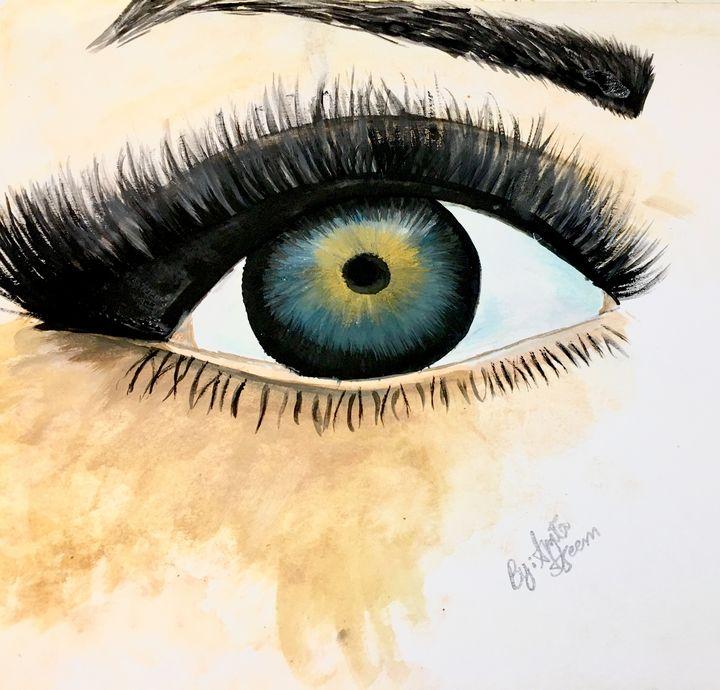 Watercolor Eye - Nature
