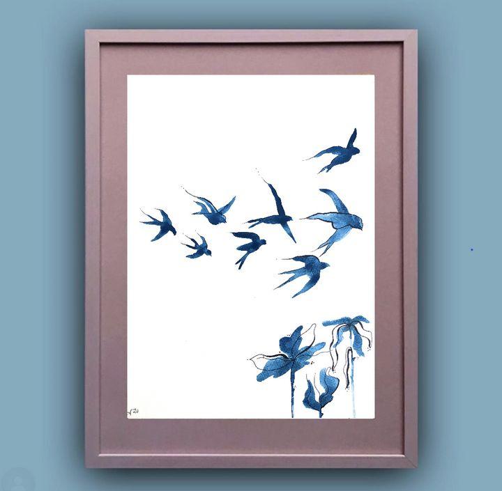 Swallows in the Sky I - The Sally Society
