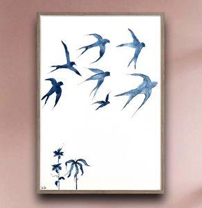Swallows in the Sky II