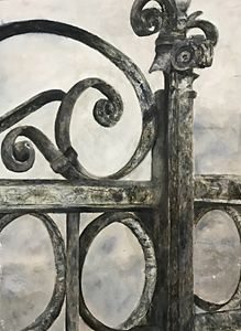 Architectural Railing Painting Print - Art By Charlotte