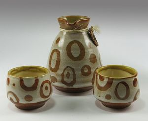 Stoneware Sake Set for Two