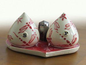 Valentine Salt and Pepper Shakers - NelaCeramics Gallery