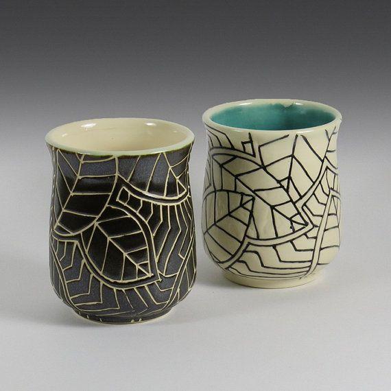 Stoneware Mug in BW - NelaCeramics Gallery