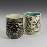 Stoneware Mug in B&W