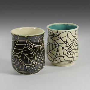 Stoneware Mug in BW