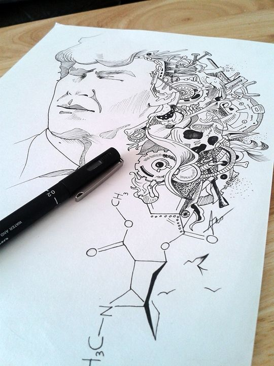 Sherlock's mind (ORIGINAL DRAWING) - Amba Gem Art