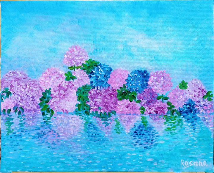 Hydrangeas reflections - Rosann