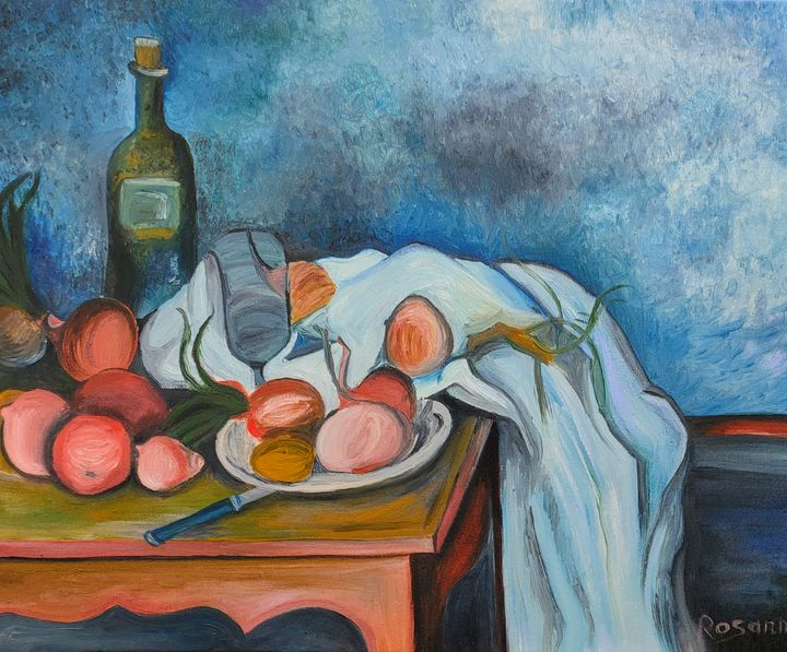 Blue of Cézanne - Rosann
