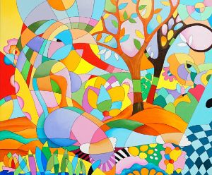 Abstract - Colors of Hope - Isha Paintings