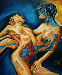 Abstract - Lesbian Love - Isha Paintings