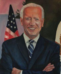 Mr. Joe Biden Oil Painting