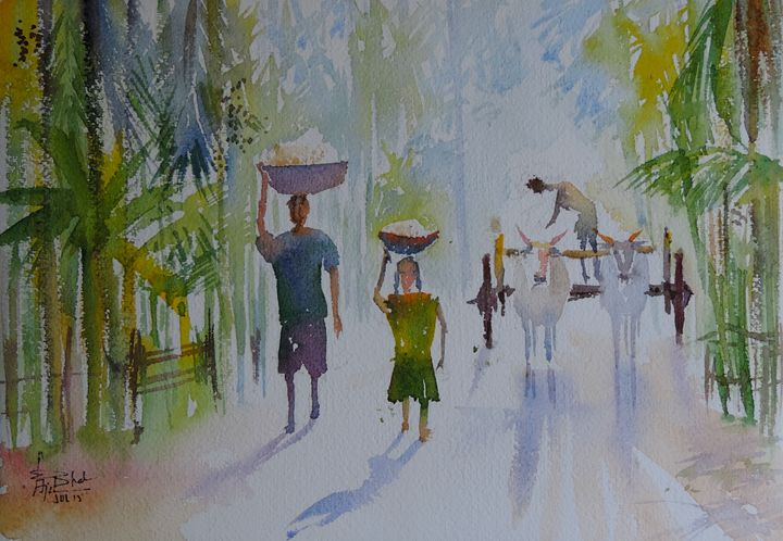 A Little Help - Ajit Bhat Finearts