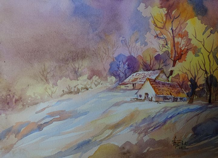 Neighbours - Ajit Bhat Finearts