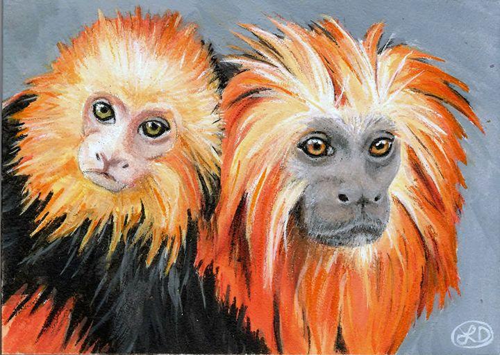 LION TAMARIN MONKEYS - Creations by Laur