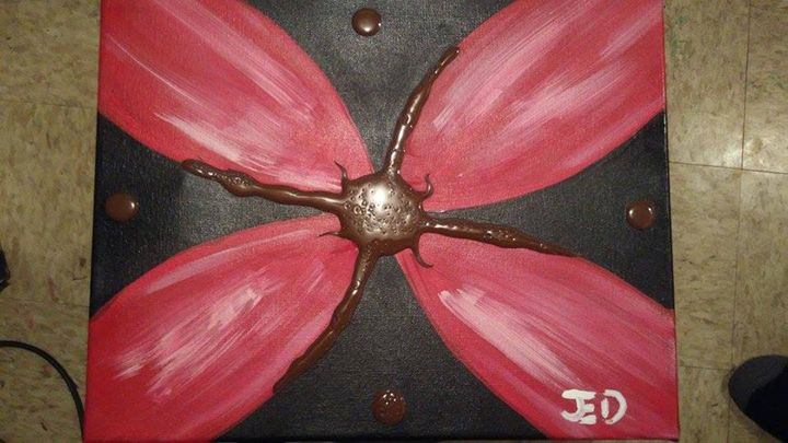 Red/Brown 3D Flower - JEDART