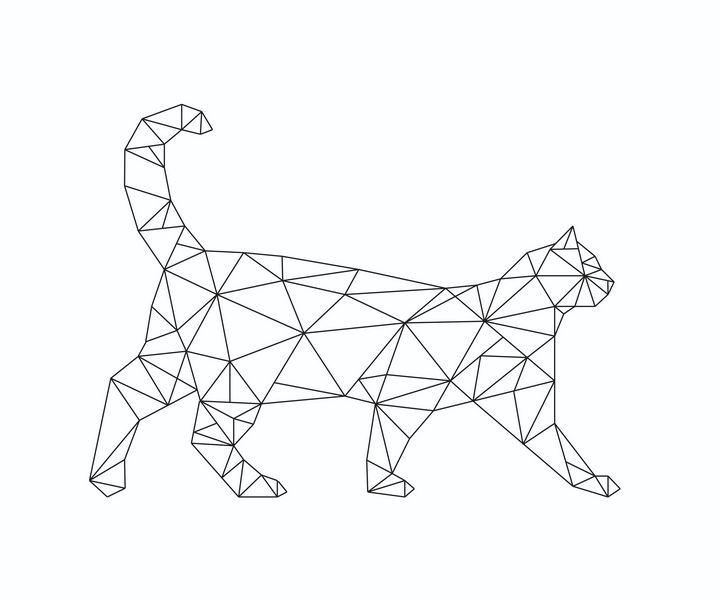 Geometric cat - Tanya Creations