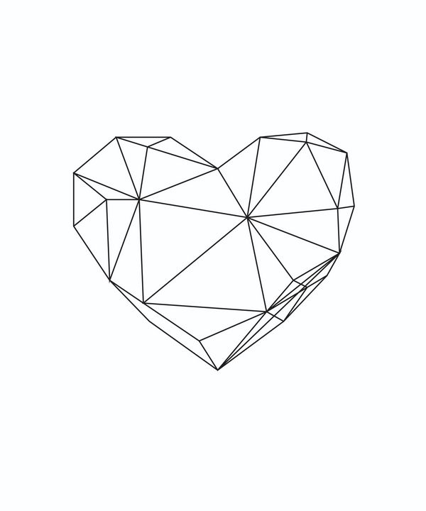Geometric heart - Tanya Creations
