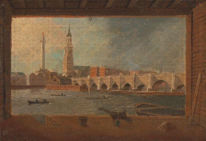 Daniel Turner~A View of London Bridg - Old master