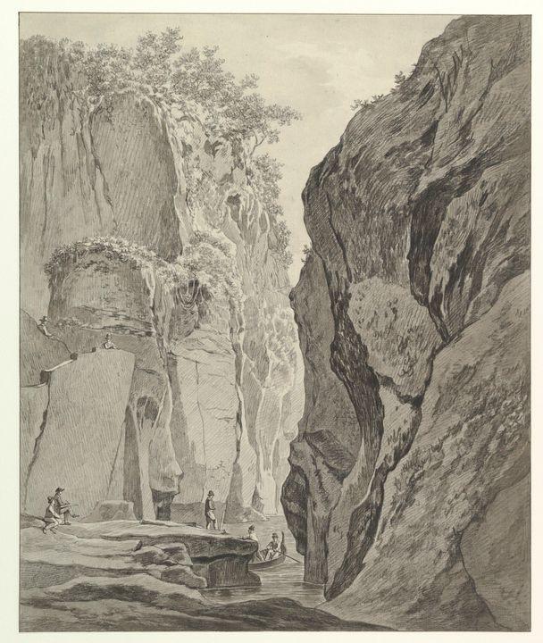 Daniël Dupré~Figures Boating in a Go - Old master