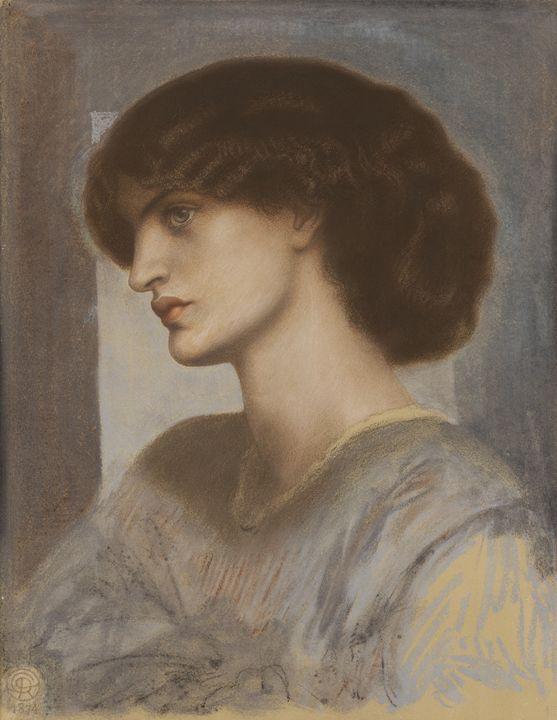 Dante Gabriel Rossetti~Ritratto di J - Old master