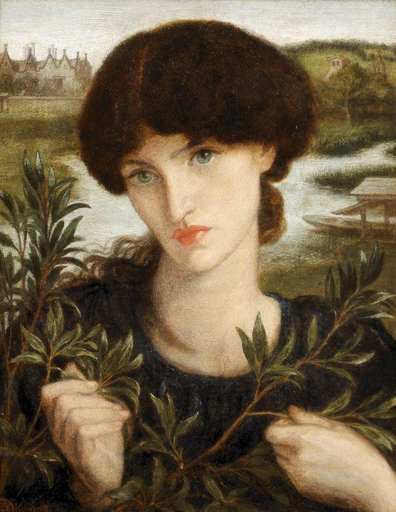 Dante Gabriel Rossetti~Water Willow - Old master