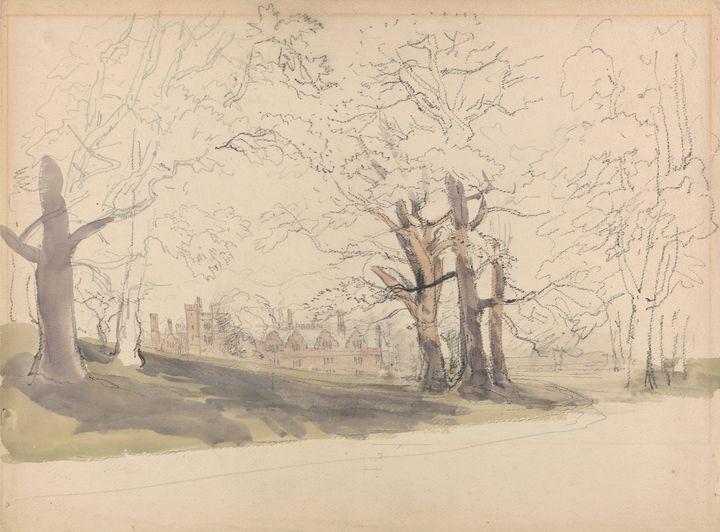 David Cox~Knole, Kent - Old master