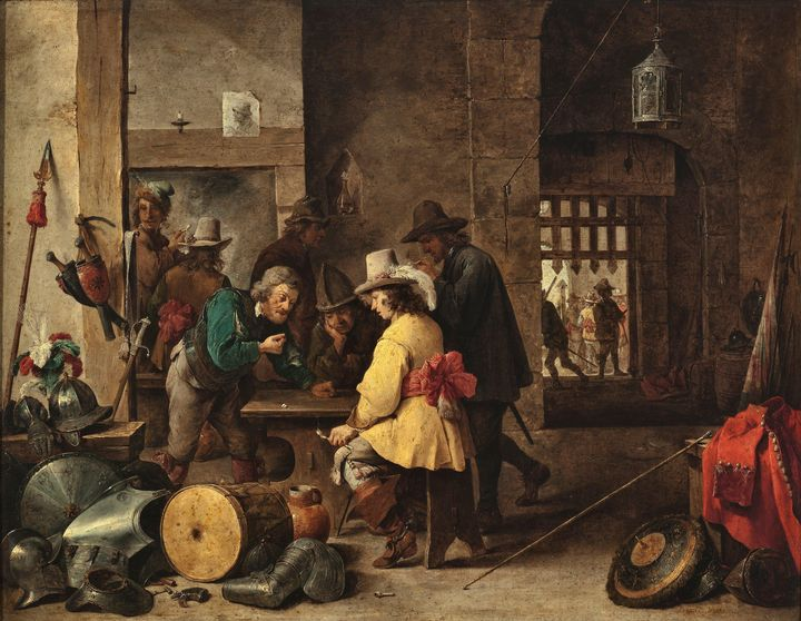 David Teniers the Younger~A Guard Ro - Old master