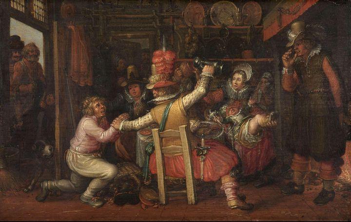 David Vinckboons~The Peasant's Sorro - Old master