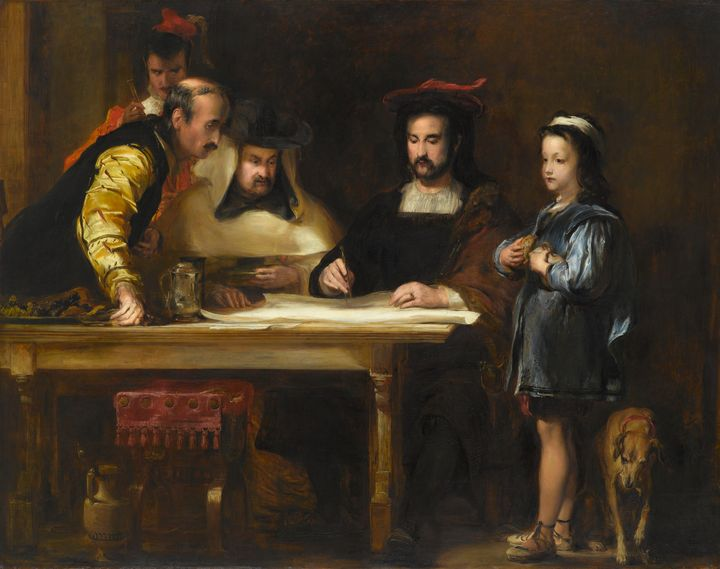 David Wilkie~Christopher Columbus in - Old master