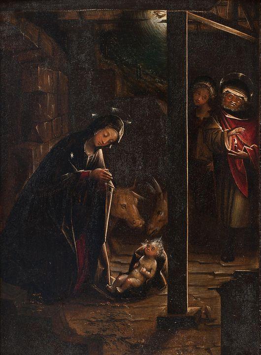 Defendente Ferrari~Adoration of the - Old master