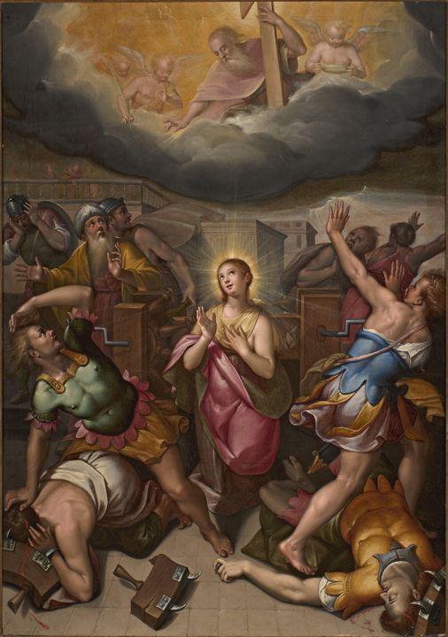 Denis Calvaert~Santa Caterina d'Ales - Old master
