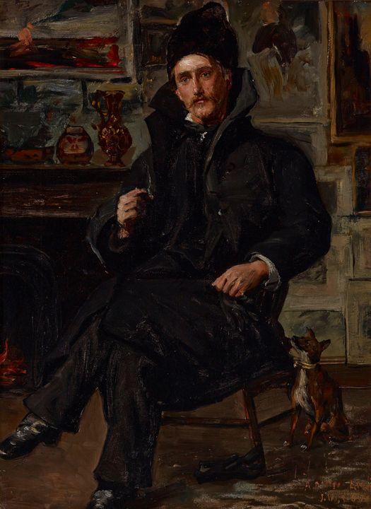 Dewey Bates (American, 1851-1899)~Po - Old master