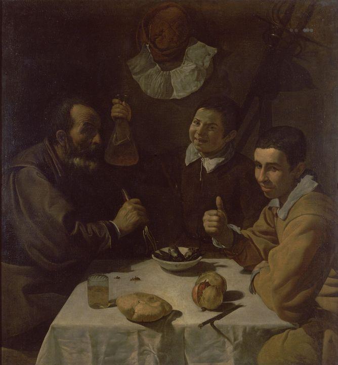 Diego Velázquez~Luncheon - Old master