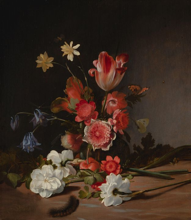 Dirck de Bray~Still Life with a Bouq - Old master