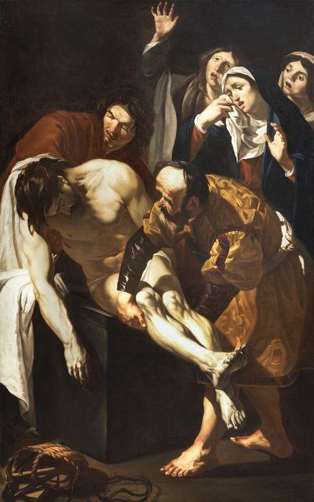 Dirck van Baburen~The Entombment of - Old master
