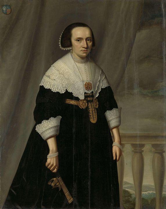 Dirck van Santvoort~Portrait of Mach - Old master