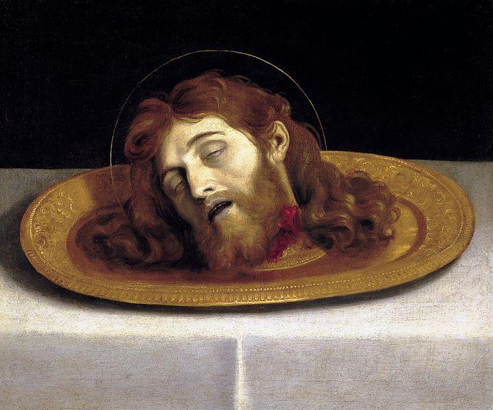 Domenichino~La cabeza del Bautista - Old master