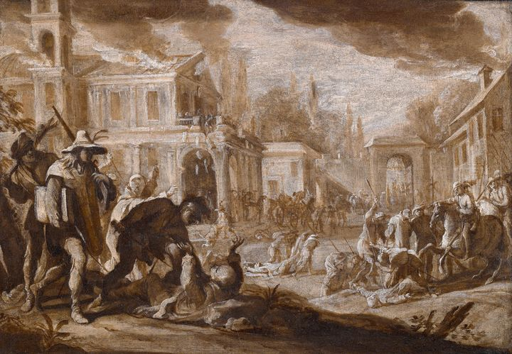 Domenico Gargiulo~The Sack of a Char - Old master