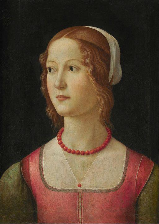 Domenico Ghirlandaio~Portrait of a Y - Old master