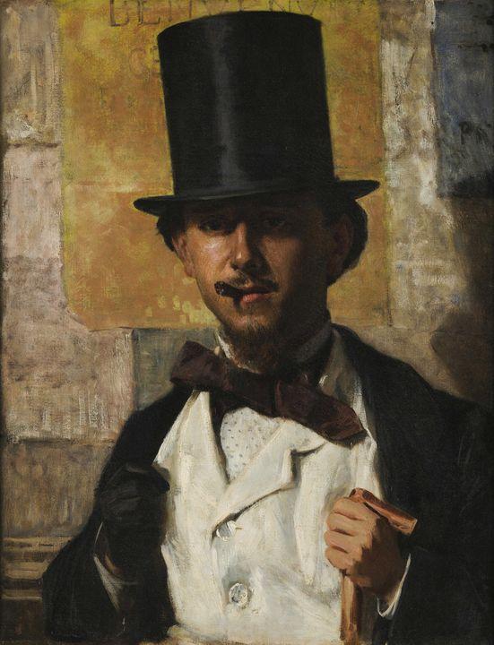 Domenico Morelli~Ritratto di Bernard - Old master