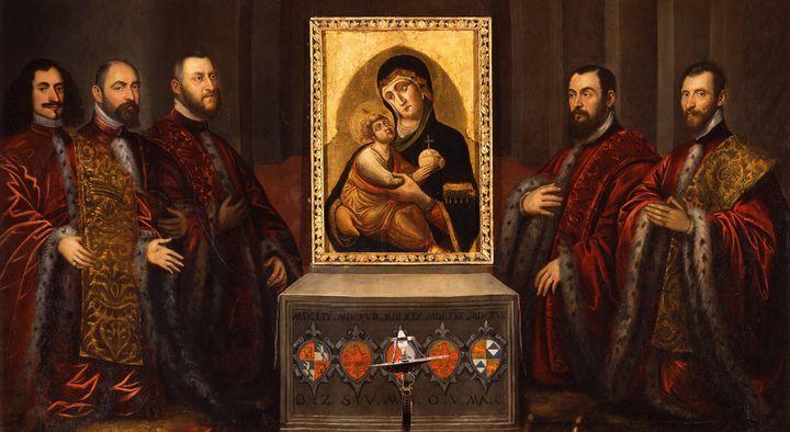 Domenico Tintoretto~Portraits of fiv - Old master