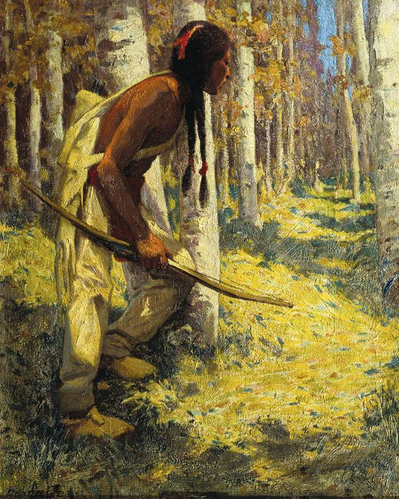 E. Irving Couse~Indian Hunter - Old master
