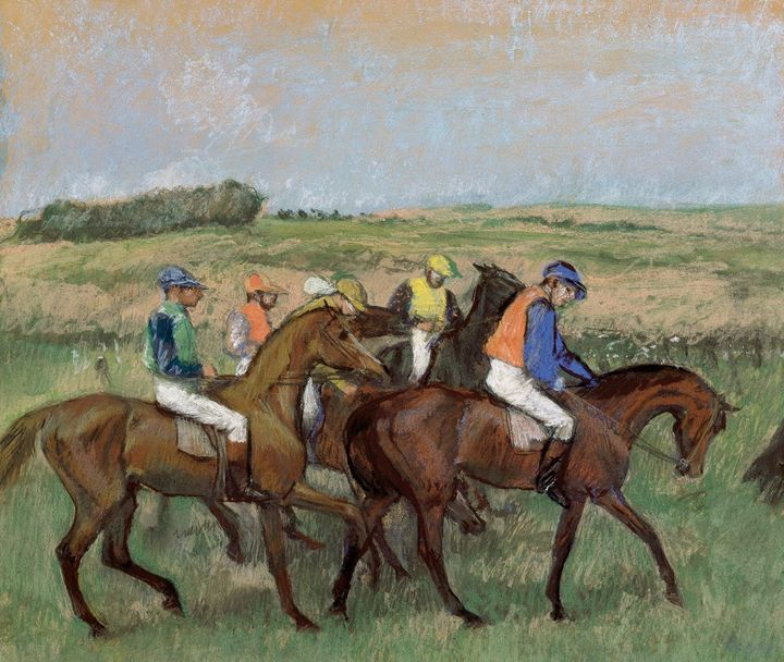 Edgar Degas~At the races - Old master