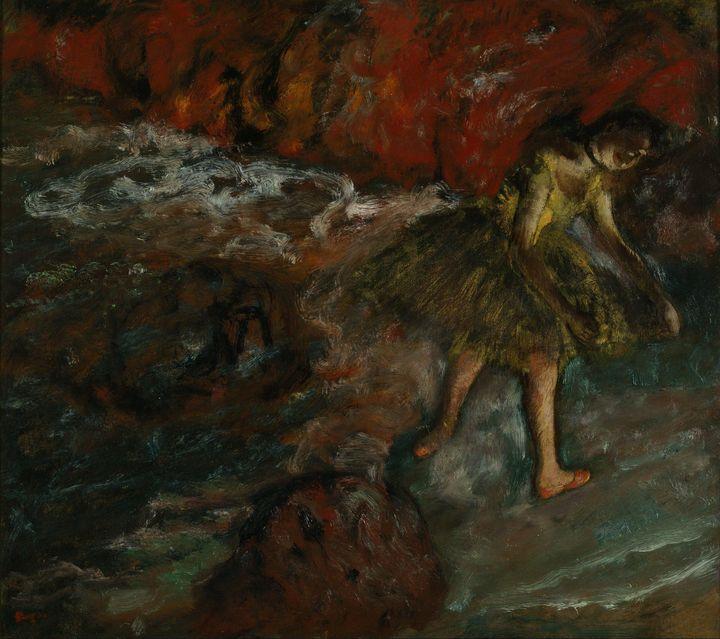 Edgar Degas~Ballet Scene - Old master